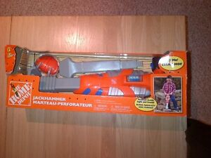 Home Depot Toy Jackhammers and B&D Chainsaw