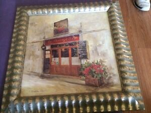 VINTAGE SIGNED FRAMED PAINTING BY C. Winterle Olson