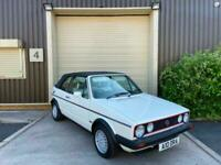 (A) 1984 Volkswagen Golf 1.8 GTi 2dr 8V Convertible Petrol White Modern Classic