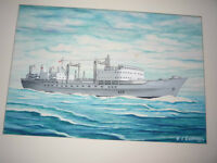 HMCS Protecteur Commissioning Painting 1969. I am open to offers