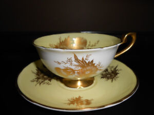 Shelley China Thistle Cup & Saucer