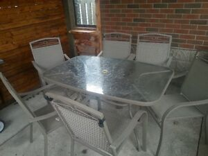 6 person Patio dinner table - Sold pending pick up
