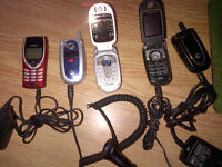 5 Random Cell phones-Comes with chargers and battery's AS-IS and