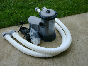 New Pool pump and filter