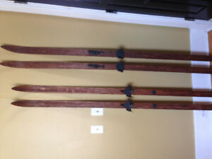 For Sale: two sets vintage cross country skis.