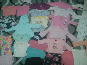 Baby girl newborn and 0-3 mnths clothing lot. Cambridge Kitchener Area image 2