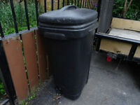 Large abs garbage can