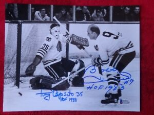 Bobby Hull & Tony Esposito Chicago Blackhawks Signed 10x8 Photo