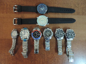 Rolex, Breitling and Omega watches