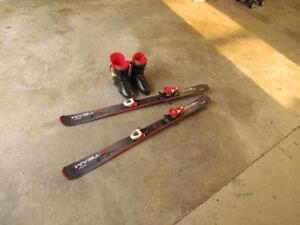 120cm Downhill Skis & Boots