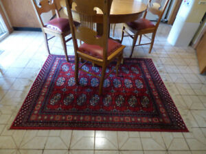 vintage Kamar Virgin Wool Accent Area Rug carpet Belgium 5'10""