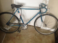 Blue Raleigh with leather Brooks saddle