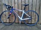 Giant TCR small ladies road bike, alloy frame carbon aero forks.