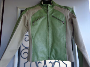Ladies small leather jacket-  recycledgear.ca