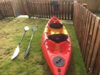 Gemini Double sit on kayak &a equipment