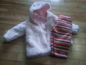 Girls coat and pants 6-12 months