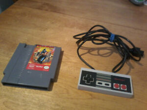 Classic Nintendo controller and game