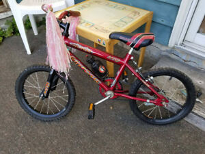 Children's red Supercycle road bike
