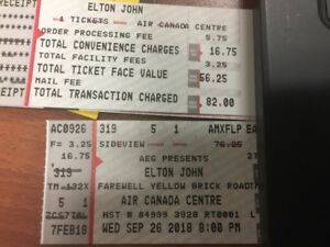 Elton John Ticket for Wednesday September 26, 2018