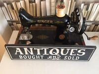 1936 singer sewing machine hand crank