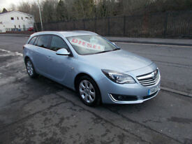 VAUXHALL INSIGNIA SRI NAV CDTI DIESEL TOURER ESTATE 1 OWNER £20 A YEAR RFL 2014