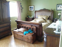 set de chambre en bois véritable **Chene