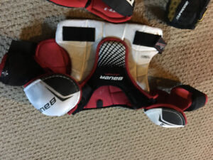 Hockey pants , shin guards, elbow pads , chest pad , gloves