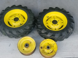 John deere narrow front and rear rims off early modles