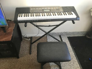 New Casio Electric Piano With Stand And Bench