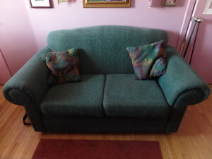 Blue Green Comfy Couch