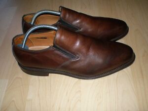 $550 Allen Edmonds Brown Dress Loafers 9E