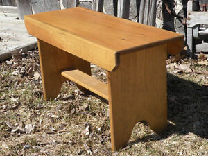 Small solid pine bench