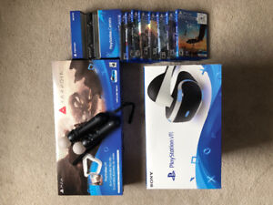 PSVR Complete Set (excluding PS4 console) w/ games