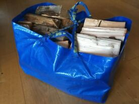 Two year plus seasoned firewood logs - less than 20% moisture - £10 per bag - Free delivery Swansea