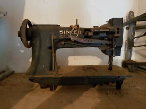 Antique Singer leather and plastic sewing machine