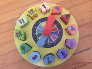 Wooden Shape Sorting Clock Educational Toy