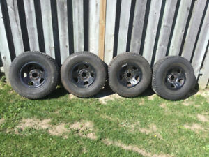 4 Used Winter Tires w/ Rims for Sale 235 / 75 / R15