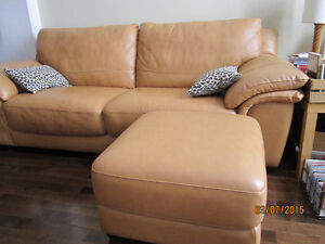 Urgent SALE-Daily:New Leather Couch,Wood Chairs,Lamp$75,Plant$15