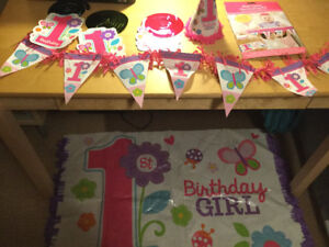 1 year old girl birthday decorations