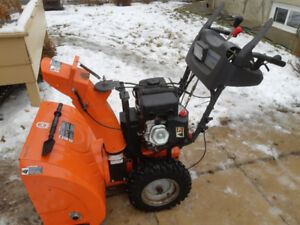Husqvarna 27'' Snow Blower with cable, used less then 10 times