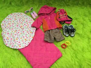 Camping gear fits American Girl Doll