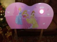 Disney princess headboard with nightlight