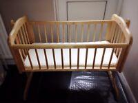 Mothercare swing crib