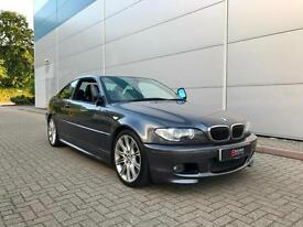 2005 05 reg BMW 330Cd M Sport Coupe + GREY + Auto + BLACK LEATHER 330 CD