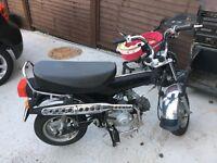 Easyrider monkey bike 90cc long mot