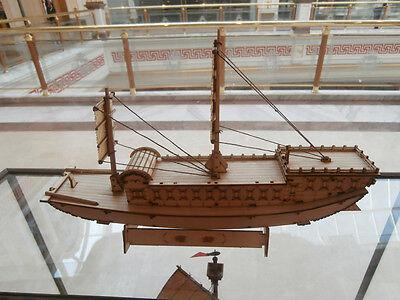 Wooden china sail boat river boat /ancient canal boat model paulownia board