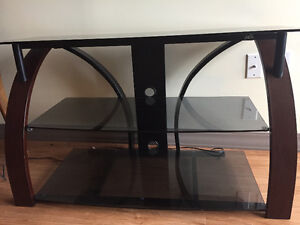 Wood and Glass Media/TV Stand