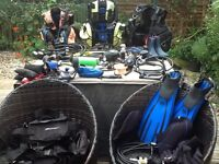 3 sets of SCUBA diving equipment