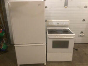 Kenmore fridge and Frigidaire smooth top stove