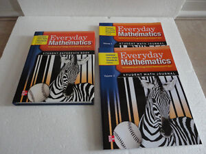 Everyday Mathematics Grade 3 Textbook and Workbooks set Volume 1
